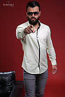 Мужская брендовая рубашка «Rubaska» много цветов