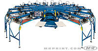 Полуавтоматическая карусель для печати по текстилю и крою M&R CHALLENGER III