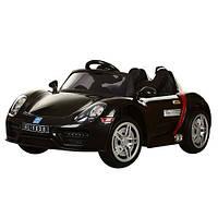 Детский электромобиль Porsche Style M 2765 EBLR-2: 2.4G, 12V, 70W, EVA, кожа - ЧЕРНЫЙ- купить оптом