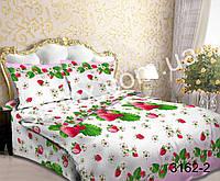 Постельная ткань,постельная ткань Бязь,ткань для постельного белья,  Бязь 3D набивная Клубничный микс
