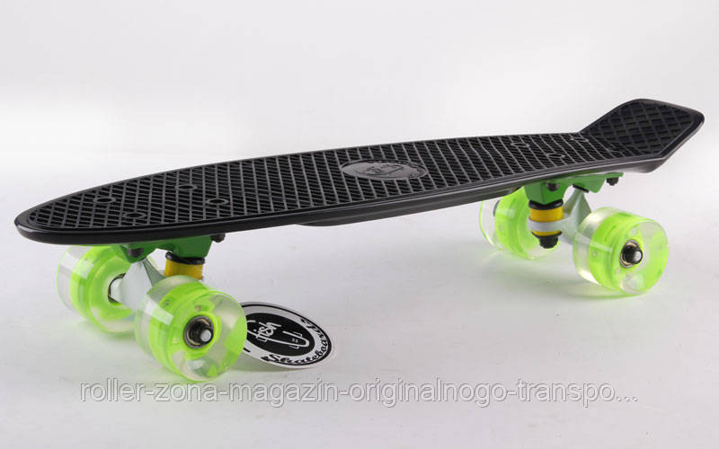 "Penny 22"" FISH BOARD WHEELS со свет. колесом (чер-сал-сал)"