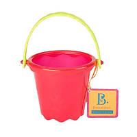 Игрушка для игры с песком и водой МИНИ-ВЕДЕРЦЕ цвет томатный Battat (BX1436Z)