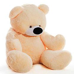 Большая мягкая игрушка: Плюшевый Медведь Бублик, 200 см, Персиковый