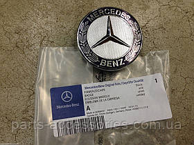 Значок эмблема на капот Mercedes E W211 2003-09 E200 E220 E270 E320 вместо звезды новый оригинальный
