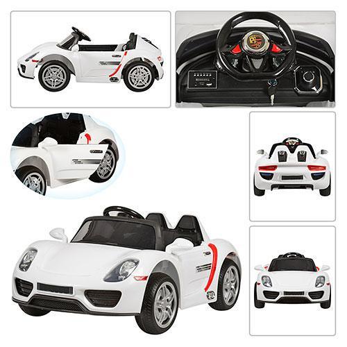 Детский электромобиль Porsche Style M 2765 EBLR-1 2.4G, 12V, 70W, EVA, кожа - БЕЛЫЙ- купить оптом