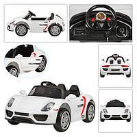 Детский электромобиль Porsche Style M 2765 EBLR-1 2.4G, 12V, 70W, EVA, кожа - БЕЛЫЙ- купить оптом, фото 1