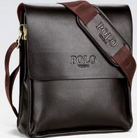 Мужская сумка Polo 3012ВR коричневая