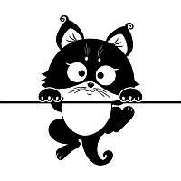Виниловая наклейка детская (Котик )  (от 30Х25 см)