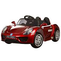 Детский электромобиль  Porsche Style M 2765 EBLRS-3: 2.4G, 12V, 70W, EVA, кожа - БОРДО- купить оптом