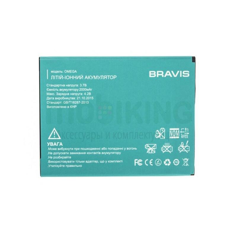 Батарея на Bravis Omega оригинальный аккумулятор для мобильного телефона.