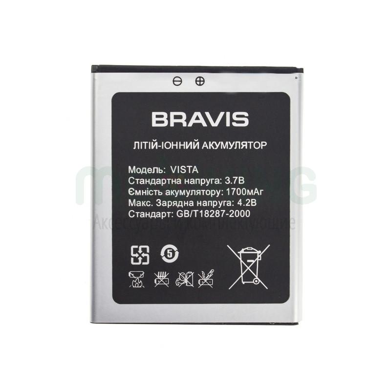 Батарея на Bravis Vista оригинальный аккумулятор для мобильного телефона.