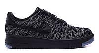 """Кроссовки Nike Air Force 1 Low Ultra Flyknit """"Dark Grey Black"""" - """"Серые Черные"""""""