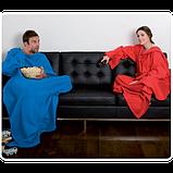 Флисовый плед-одеяло с рукавами Snuggie Blanket (Снагги), фото 2