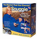 Флисовый плед-одеяло с рукавами Snuggie Blanket (Снагги), фото 3