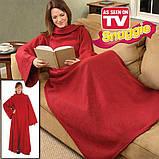 Флисовый плед-одеяло с рукавами Snuggie Blanket (Снагги), фото 4