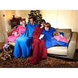 Флисовый плед-одеяло с рукавами Snuggie Blanket (Снагги), фото 5