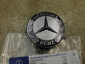 Mercedes C C-Class W204 2007-14 значок эмблема на капот вместо звезды новая оригинал