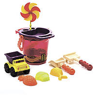 Набор для игры с песком и водой ВЕДЕРЦЕ МАНГО 9 предметов Battat (BX1331Z)