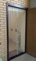 Антимоскитная дверная штора  210х90см бежевая отличного качества