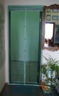 Антимоскитная сетка(штора) дверная 210х90 см (зелёный)