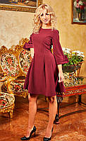Обалденное платье модного цвета марсал