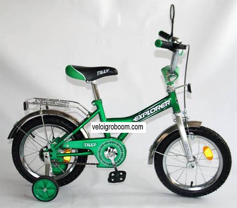 Велосипед  детский двухколесный 14 дюймов Explorer зеленый, фото 2