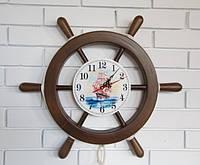 Морские часы (штурвал, якорь)