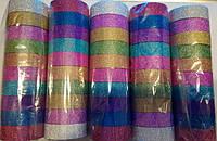 Скотч декоративный АССОРТИ Цветной 10видов блеск 15-3-10-MIX (ширина 15мм, длина 3м) уп10 ящ1200