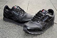 Кроссовки Reebok Classic зимние, теплые, черные