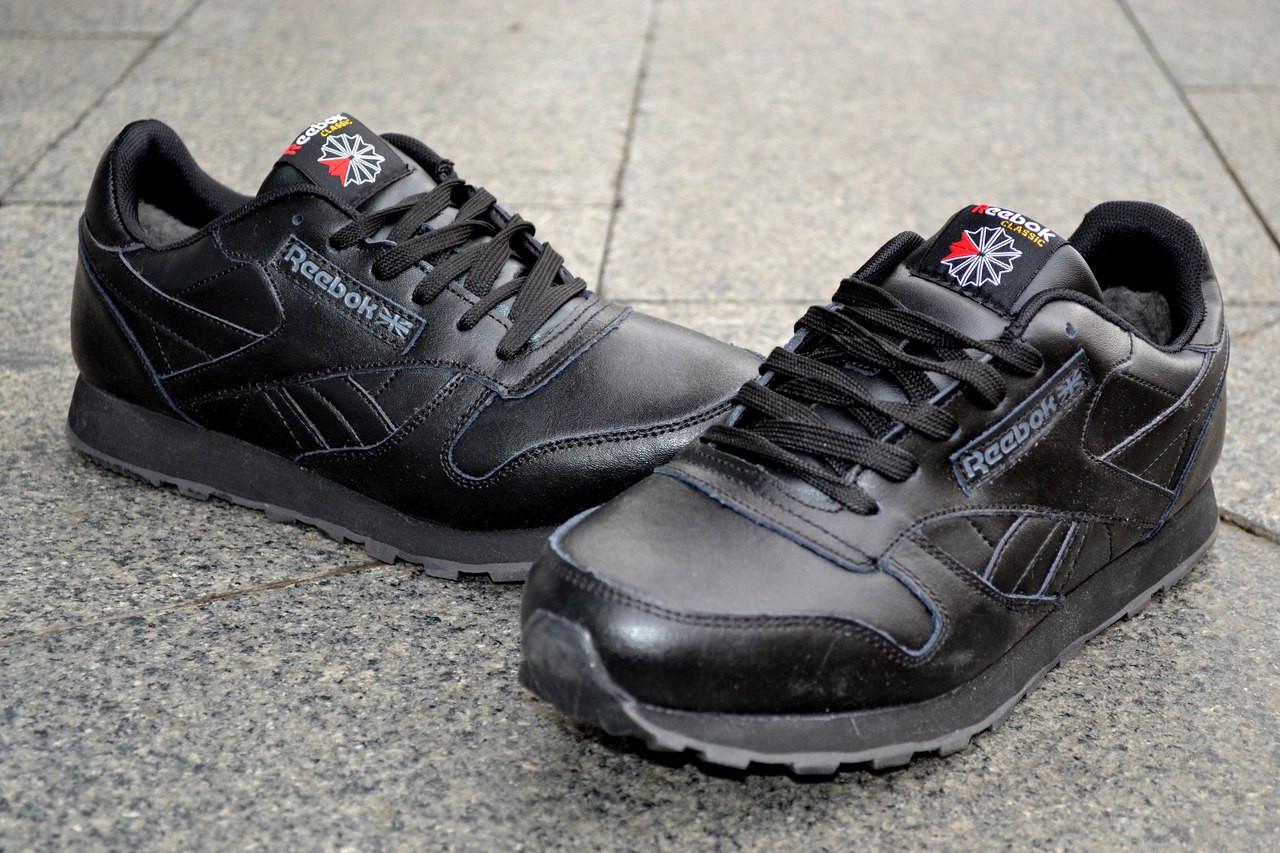 9641315c0e69 Кроссовки Reebok Classic зимние, теплые, черные - ATTIC   одежда, обувь,  аксессуары