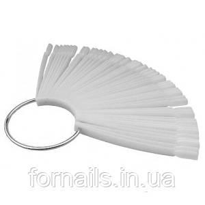 Типсы веер на кольце 50 шт  (белые) ,длина 10 см
