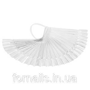 Типсы веер 32 шт (прозрачные)