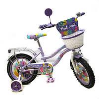 Велосипед детский от 80 см двухколесный  Profi фиолетовый 14 дюймов на 3, 4, 5 лет для девочки