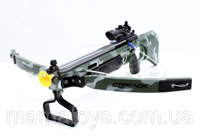Детский Арбалет М0004 Стрелы на присосках. Лазерный прицел
