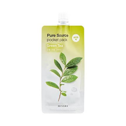 Ночная маска с экстрактом зеленого чая Missha Pure Source Pocket Pack - Green Tea, 10 мл, фото 2