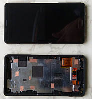 Дисплей модуль Sony Xperia Z3 Compact Mini D5803, D5833 в зборі з тачскріном, чорний, з рамкою