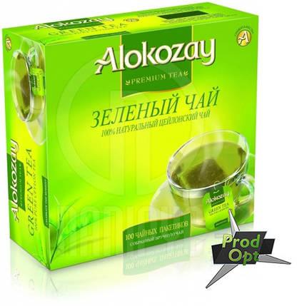 Чай Alokozay зелений 100 пакетів, фото 2