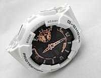Часы противоударные G-Shock - GA-110RG, стальной бокс, белые с золотом