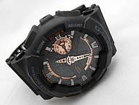 Часы противоударные G-Shock - GA-110RG, стальной бокс, черные с бронзой