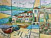 Картина городского пейзажа Приморский городок