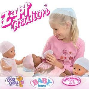 Ляльки Baby Born і Baby Annabell