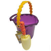 Набор для игры с песком и водой ВЕДЕРЦЕ С ЛОПАТКОЙ цвет сливовый Battat (BX1433Z)
