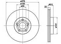Диск тормозной передний 4351212710, 4351202270; TRW DF6234; ZIMMERMANN 590281220 на Toyota Urban Cruiser
