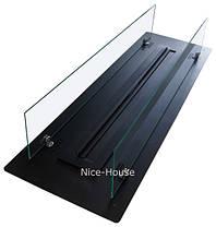 Биокамин Nice-House 1000x320 мм, черный, защитное стекло, фото 2