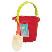 Набор для игры с песком и водой ВЕДЕРЦЕ С ЛОПАТКОЙ цвет томатный Battat (BX1430Z)
