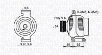 Генератор (75 am.)  DENSO DAN1003, 1022118610; HC PARTS CA1856IR, CA1855, CA1855IR на Lancia Ypsilon