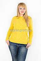 Джемпер кофта вязаный р.50-56 цвет желтый Y35726