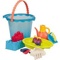 Набор для игры с песком и водой МЕГА-ВЕДЕРЦЕ МОРЕ 9 предметов Battat (BX1444Z)