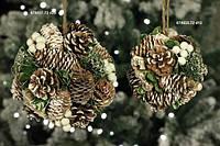 """Новогоднее украшение """"Шар из шишек"""", фото 1"""