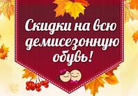 СКИДКИ на ДЕМИСЕЗОННУЮ обувь 2016 года!!!